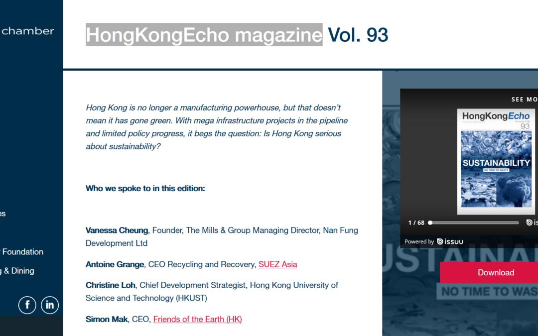 HongKongEcho magazine